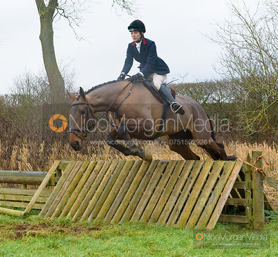 Ida Thore jumping a hunt jump after the meet