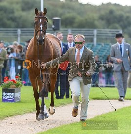 Bruce Davidson Jr and JAK MY STYLE at the trot up, Land Rover Burghley Horse Trials 2019