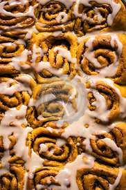 Glazed Pumpkin Cinnamon Rolls