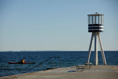 Klampenborg, Arne Jacobsen life guard tower
