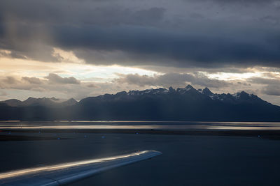 Sunset at Departure from Ushuaia Airport -  Argentina 2012