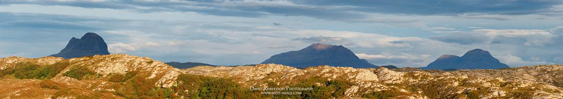 Image - Mountain panorama in Sutherland