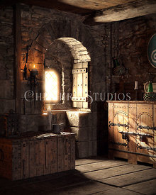 Medieval Room with Window