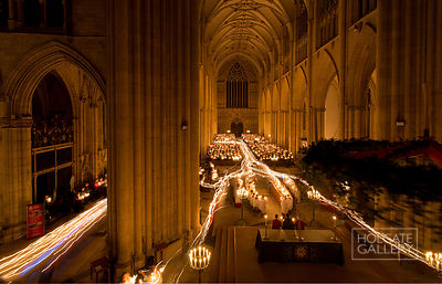 The candlelit Advent service at York Minster