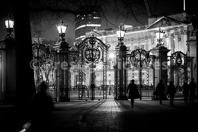 Grand Gates leading from Green Park to The Mall and Buckingham Palace at Night
