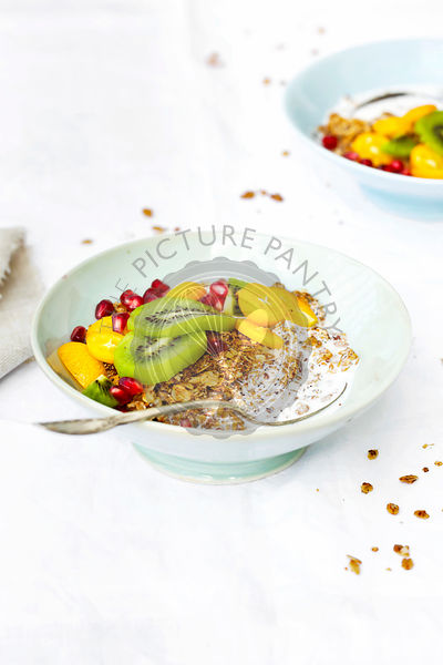Oat Quinoa Flake Granola with Winter Fruit