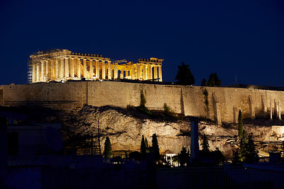 Athens Acropolis night