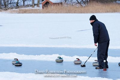 Image - Curling match, Lake of Menteith, Scotland