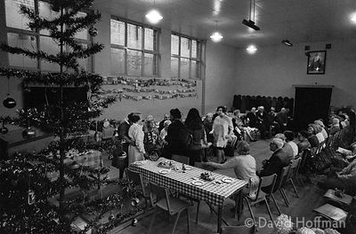 Salvation Army Christmas dinner for local impoverished people 1975.