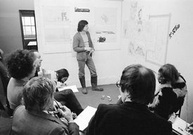 #77153  Student presentation, Architectural Association School of Architecture, London  1975.