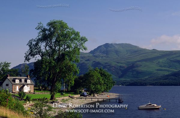 Image - House beside Loch Lomond, Argyll, Scotland