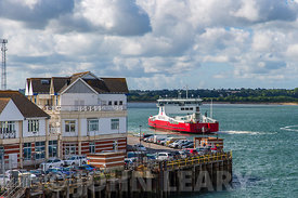 Southampton's Town Quay and Red Kestrel.