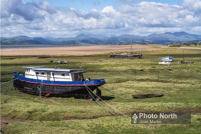 ASKAM IN FURNESS 12A - Old boats on the salt marsh