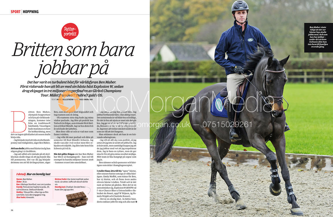 Ben Maher for Swedish Equestrian magazine Ridsport
