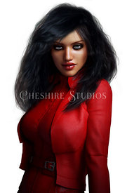 Superhero Woman in Red