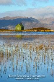 Image - Hut and lochan on Urlar Moor, above Kenmore, Perthshire, Scotland