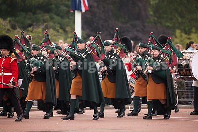 Pipers from the Irish Guards Band