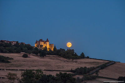 Full Moon on the Auxois - Châteauneuf - Côte d'Or