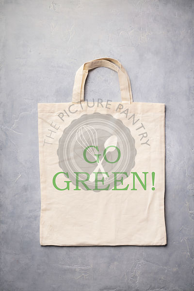 Zero waste, Recycling, Sustainable lifestyle concept. Eco-friendly cotton bag, flat lay