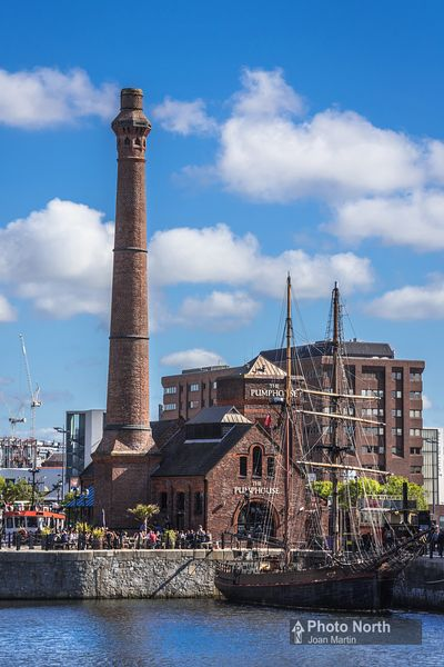 LIVERPOOL 11A - Pump House and sailing ship