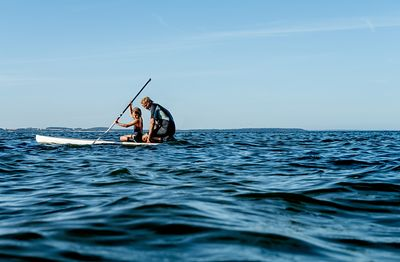 Standup paddle surfing on Mors, Denmark 11