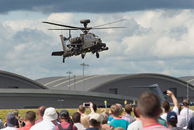#120872,  Apache helicopter display at the Farnborough Air Show, 2016.