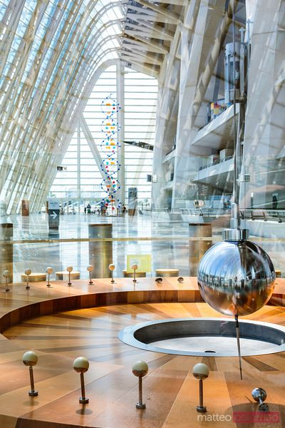 Interior of science museum, City of Arts and Sciences, Valencia, Spain