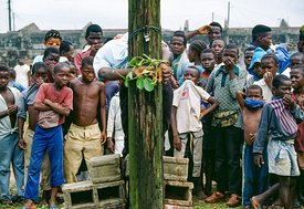 Public Execution of a Soldier During the Civil War in Liberia