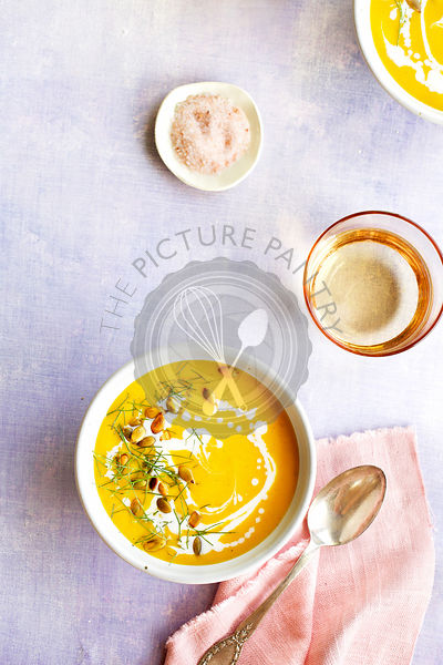 Roasted Fennel Butternut Squash Coconut Soup
