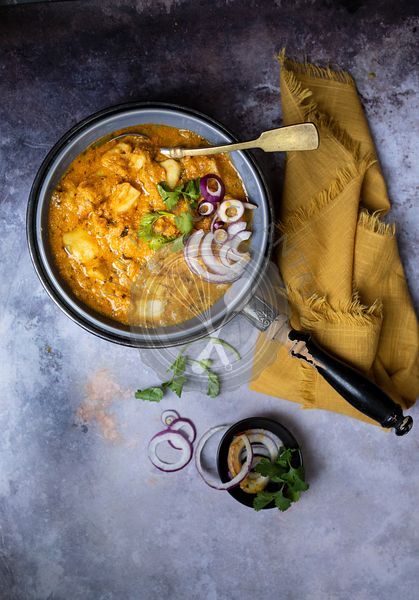 Taro root curry Indian cuisine