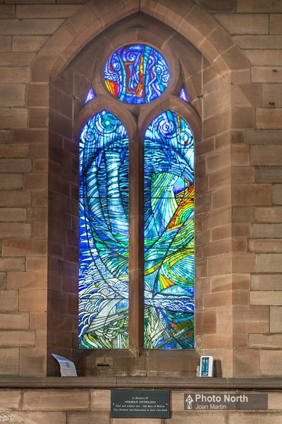 MILLOM 10A - Norman Nicholson window, St George's Church