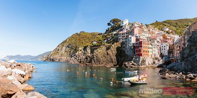 Fishing village panoramic, Cinque Terre, Italy