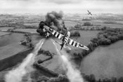 Hawker Typhoon rocket attack BW version