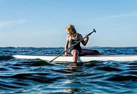 Standup paddle surfing on Mors, Denmark 6