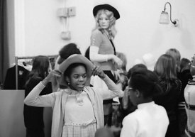 #74697,  Anna Scher Children's Theatre, Bentham Court Hall, Islington, North London 1972.  Kids would come after school and b...