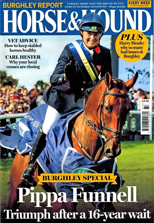 Horse & Hound cover - Burghley horse Trials