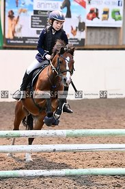 Stapleford Abbotts. United Kingdom. 26 August 2020. Wednesday evening unaffiliated showjumping. MANDATORY Credit Garry Bowden...