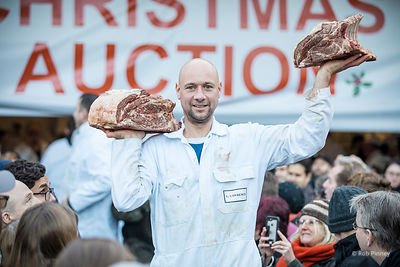 Smithfield Market Christmas Eve Meat Auction
