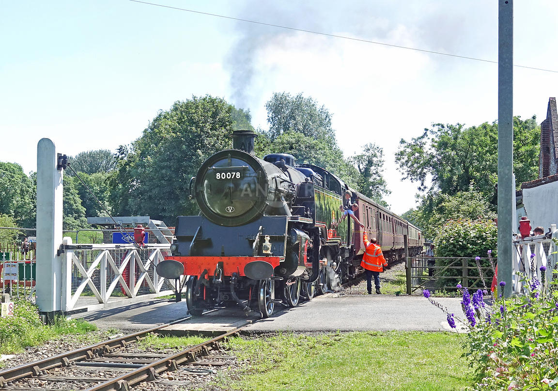 Steam loco Standard 4MTT 80078 Wymondham Abbey