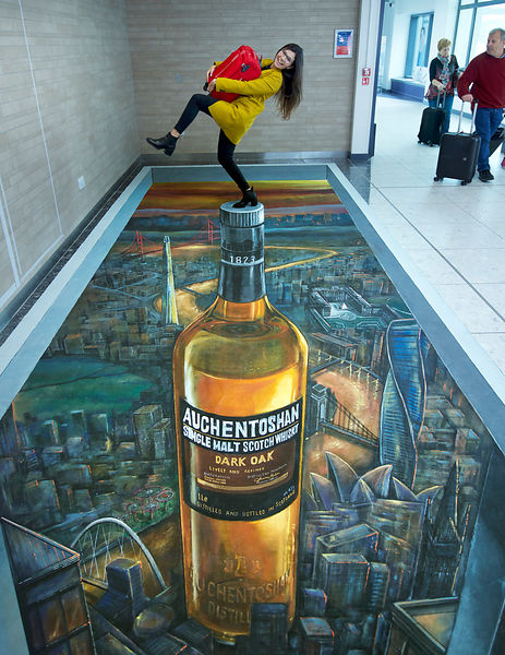 Edinburgh airport of 3D art