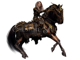 Knight in Armor on Armored Horse