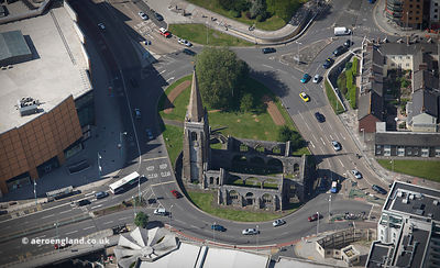 Charles Church, Plymouth  UK from the air