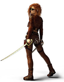 Red Head Steampunk Woman