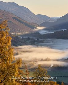 Prints & Stock Image - Glen Lyon and autumnal mist, Perth and Kinross, Scotland.