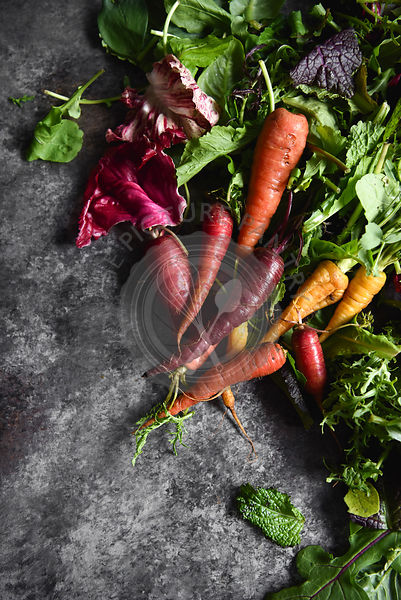 Heirloom Carrots and Greens