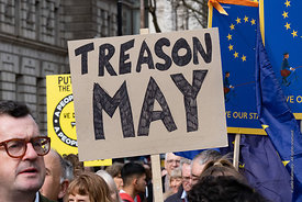 #124549,  Anti-Brexit march to Parliament Square, London, 23rd March 2019.  A million people of all ages marched demanding a ...