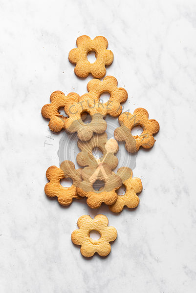 Canestrelli Italian Butter Biscuits on White background