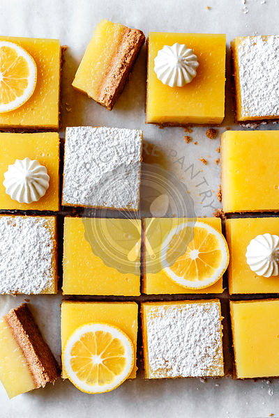 Gluten-free lemon bars with almond flour shortbread crust