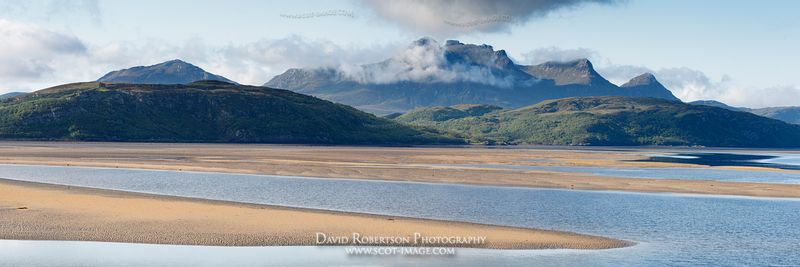 Image - Panoramic, Ben Loyal and the Kyle of Tongue, Sutherland