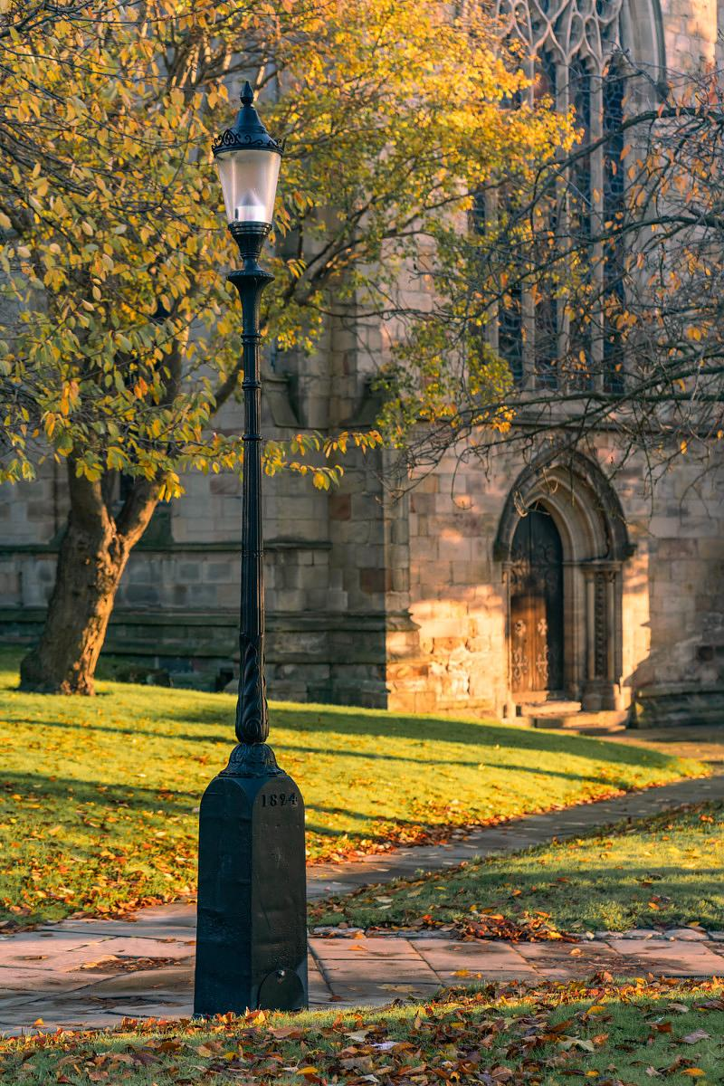 First gas lamp in Chesterfield